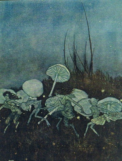 Faerie Dance with Mushrooms