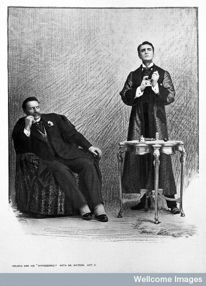 "L0016502 'Holmes and his ""hyperdermic"", with Dr. Watson'"